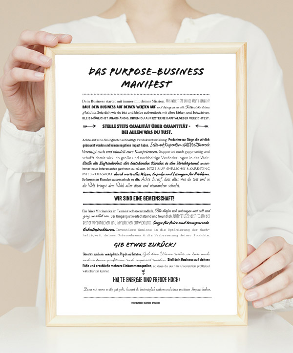Das Purpose-Business Manifest